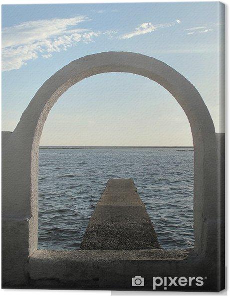 Obraz na płótnie Morze pod łukiem - Wakacje