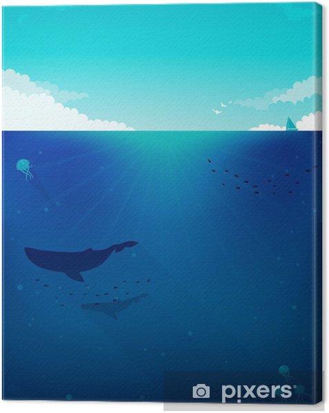 Obraz na płótnie Morze tle ilustracji - Pod wodą