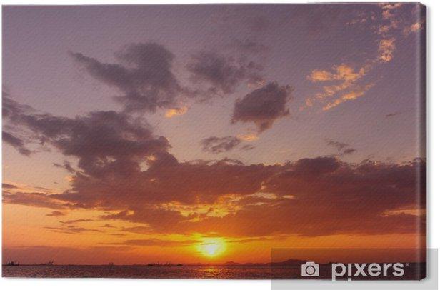Obraz na płótnie Morze zachód słońca w tle - Woda