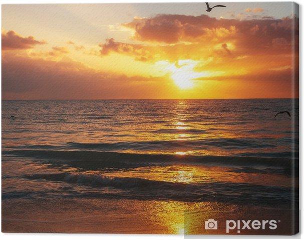 Obraz na płótnie Morze zachód słońca - Wakacje