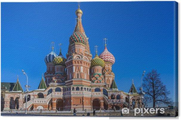 Obraz na płótnie Moskwa, Rosja, Plac Czerwony, widok Cerkiew Wasyla Błogosławionego - Miasta azjatyckie
