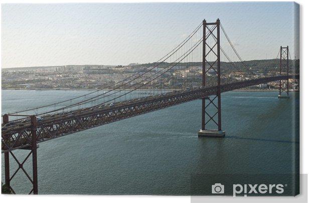 Obraz na płótnie Most 25 kwietnia w Lizbonie, w Portugalii. - Wakacje