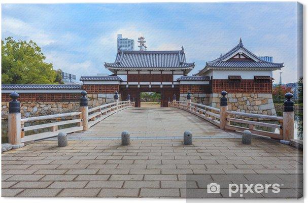 Obraz na płótnie Most do zamku w Hiroszimie - Azja