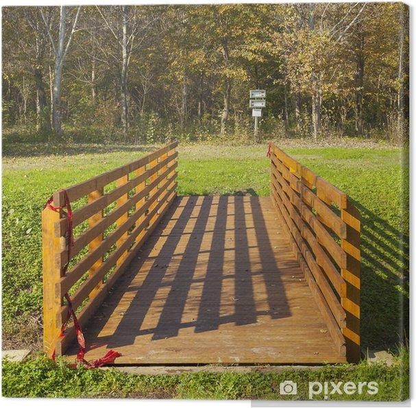 Obraz na płótnie Most drewna w lesie - Europa