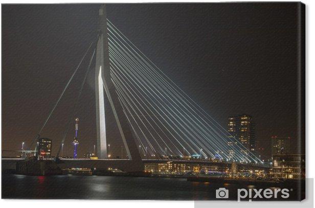 Obraz na płótnie Most Erasmus w Rotterdamie - Europa
