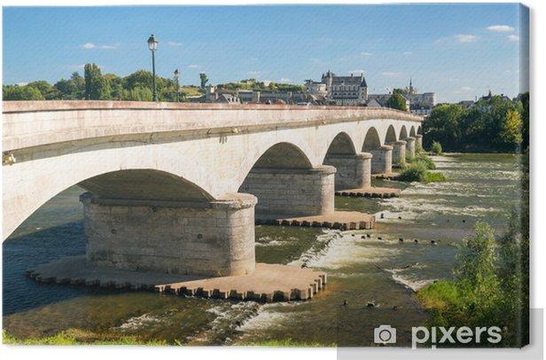 Obraz na płótnie Most nad Loarą w historycznym mieście Amboise, Francja - Zabytki