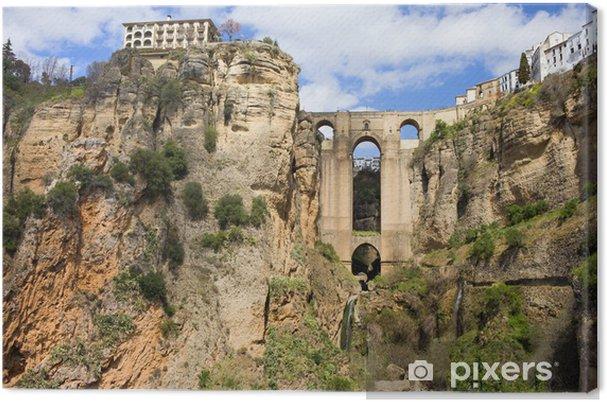 Obraz na płótnie Most w Ronda - Zabytki