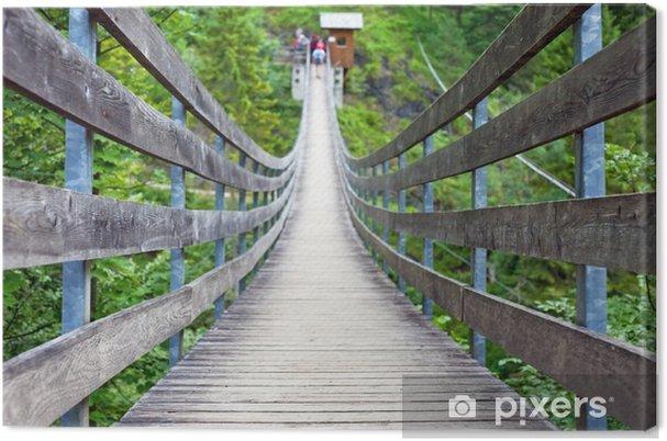 Obraz na płótnie Most wiszący - Sporty na świeżym powietrzu