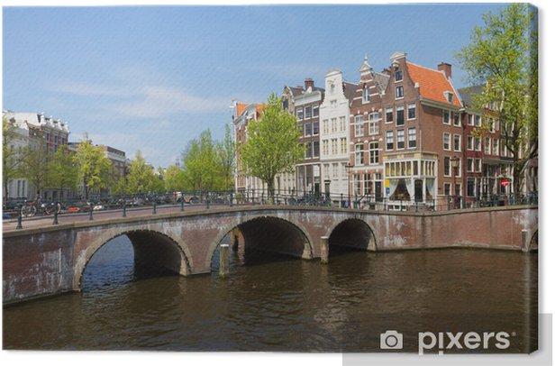 Obraz na płótnie Mosty pierścienia kanału, Amsterdam - Miasta europejskie