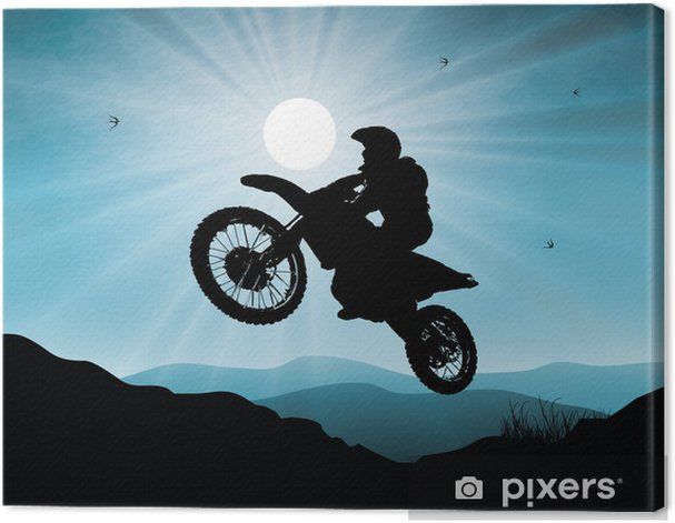 Obraz na płótnie Motorsport w tle zachodu słońca - Sporty ekstremalne
