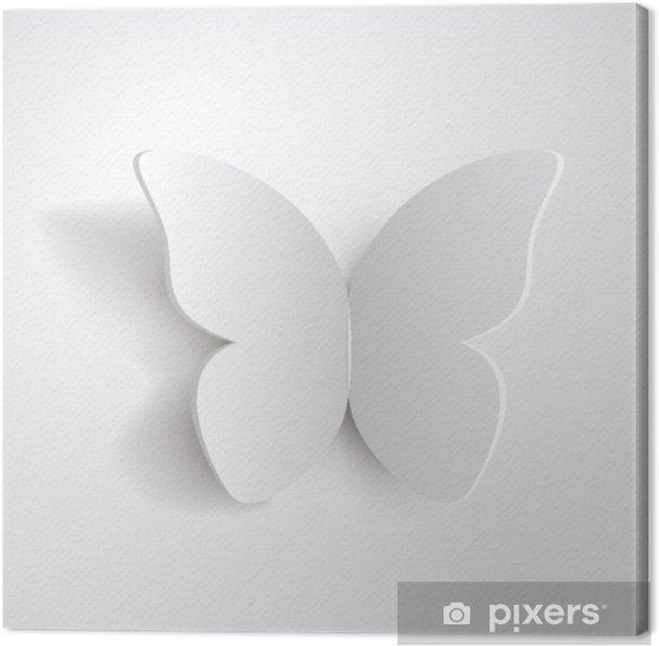 Obraz na płótnie Motyl biały papier - Zwierzęta