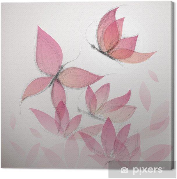 Obraz na płótnie Motyl jak kwiat / surrealistycznej tle kwiatów - Tematy