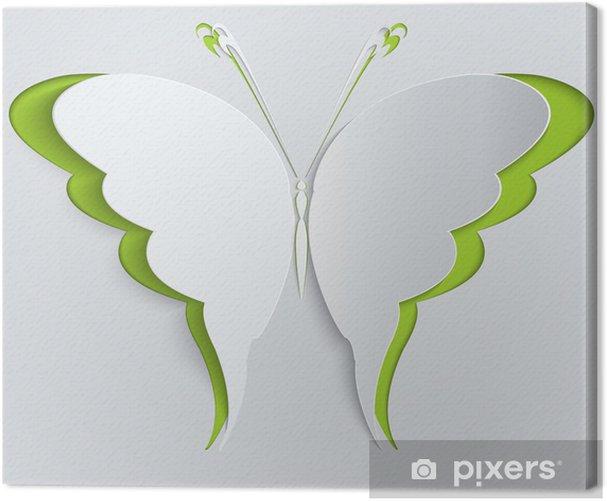 Obraz na płótnie Motyl papier. Dekoracji, kartkę z życzeniami - Tekstury