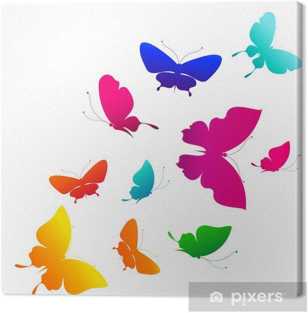 Obraz na płótnie Motyle projekt - Tła