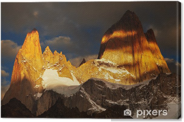 Obraz na płótnie Mount Fitz Roy, Patagonia, Argentyna - Ameryka