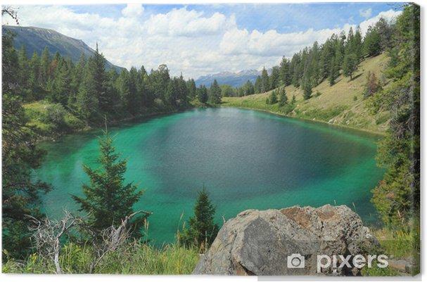 Obraz na płótnie Mountain Lake - Jasper National Park, Alberta, Kanada - Woda