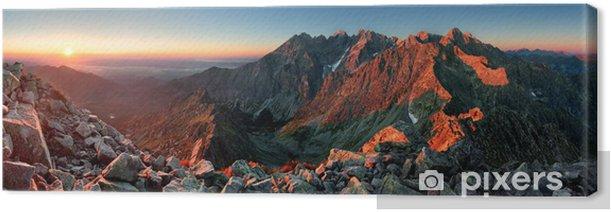 Obraz na płótnie Mountain sunset panorama ze szczytu - Słowacja Tatry - Tematy