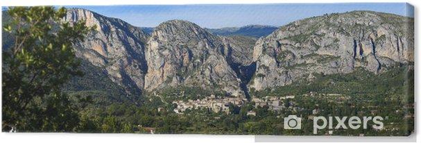 Obraz na płótnie Moustiers Sainte-Marie - Pejzaż miejski