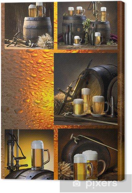 Obraz na płótnie Mozaika z piwem - Alkohol