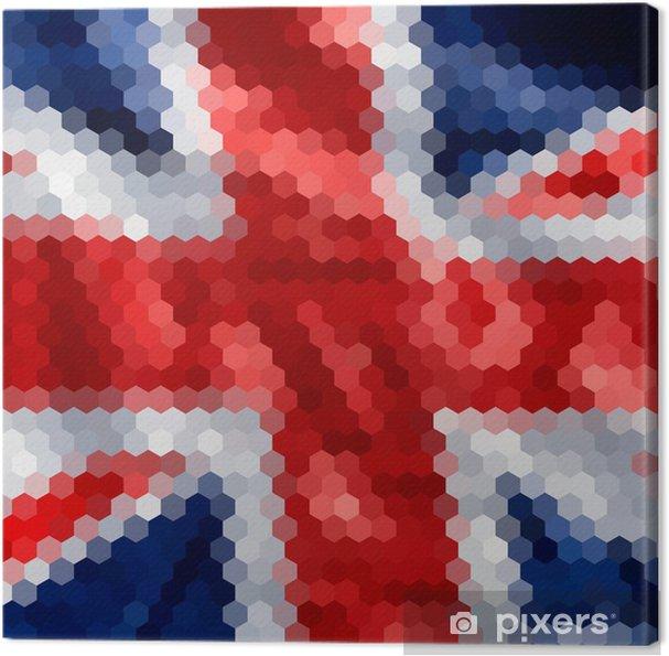 Obraz na płótnie Mozaiki tła dla projektu. Angielski flag. - Tła