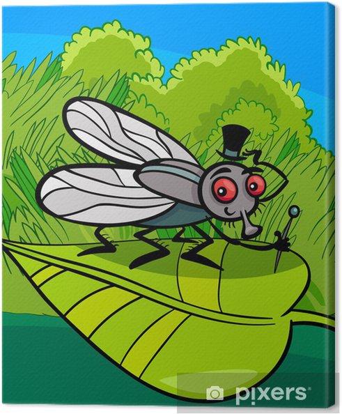 Obraz na płótnie Mucha owad cartoon - Pory roku