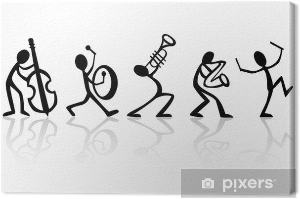 Obraz na płótnie Muzycy, zespół grający muzykę wektor idealny do koszulek - Jazz