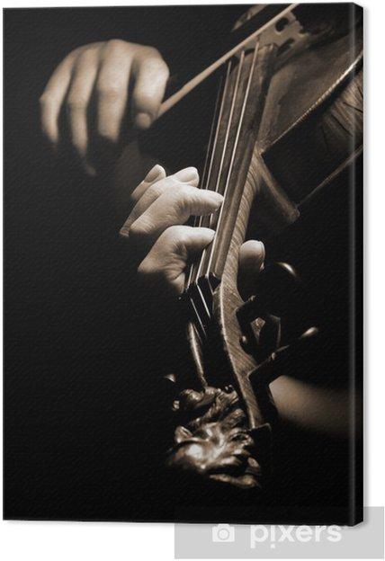 Obraz na płótnie Muzyk grający na skrzypcach odizolowane na czarno - Części ciała