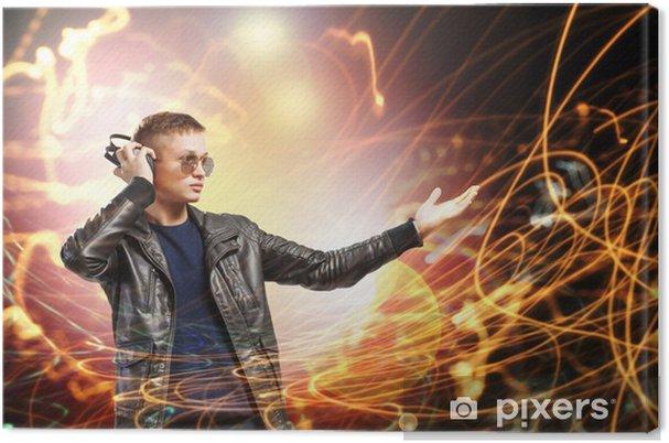 Obraz na płótnie Muzyk rockowy noszenie słuchawki - Nastolatkowie