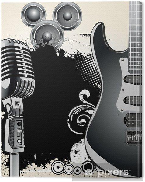 Obraz na płótnie Muzyka w tle - Tematy