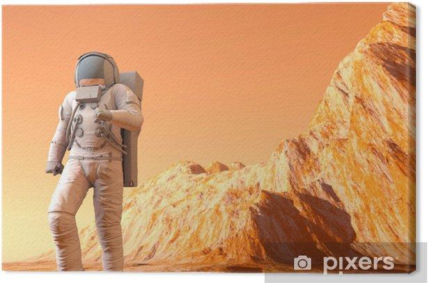 Obraz na płótnie Na Marsie - Przestrzeń kosmiczna