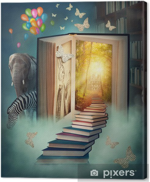 Obraz na płótnie Na piętrze do magicznej krainie -