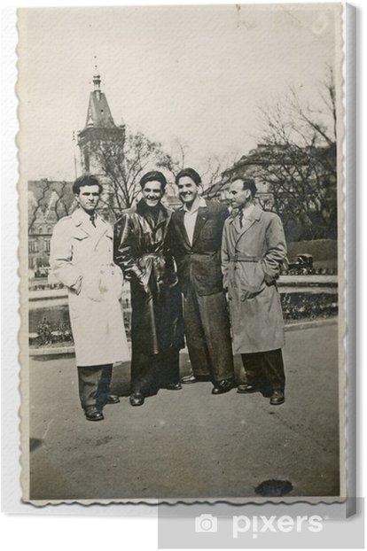 Obraz na płótnie Na podróż, przyjaciele (mężczyźni) - około 1950 - Sporty na świeżym powietrzu