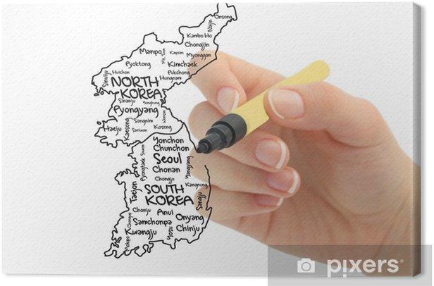 Obraz na płótnie Na południe i na północ Korea - Azja
