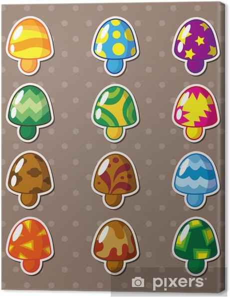 Obraz na płótnie Naklejki grzybów - Gry