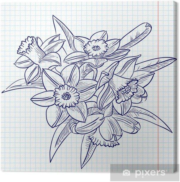 Obraz na płótnie Narcyz - Kwiaty