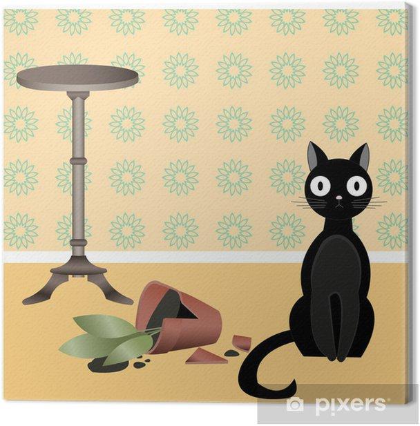 Obraz na płótnie Naughty cat2 - Ssaki