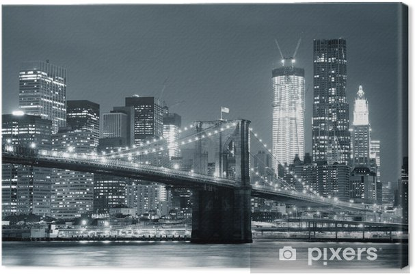 Obraz na płótnie New York City Brooklyn Bridge -