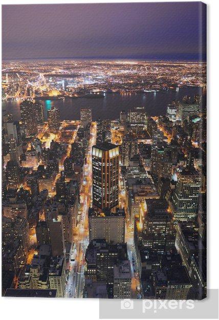 Obraz na płótnie New York City Manhattan skyline lotu ptaka o zmierzchu - Ameryka