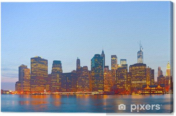 Obraz na płótnie New York City, USA kolorowe słońca skyline panorama - Miasta amerykańskie