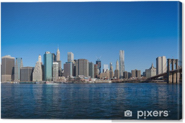 Obraz na płótnie New York Manhattan Pont de Brooklyn - Nowy Jork