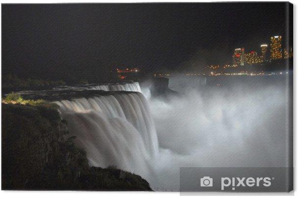 Obraz na płótnie Niagara Falls w nocy - Cuda natury