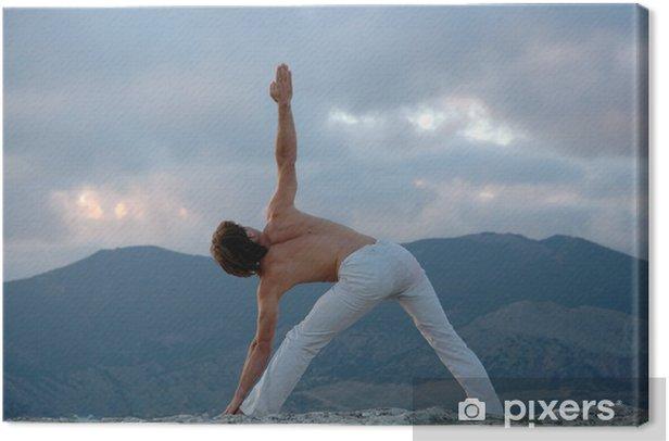 Obraz na płótnie Nie tha-yoga: utthita-Trikonasana - Sporty indywidualne