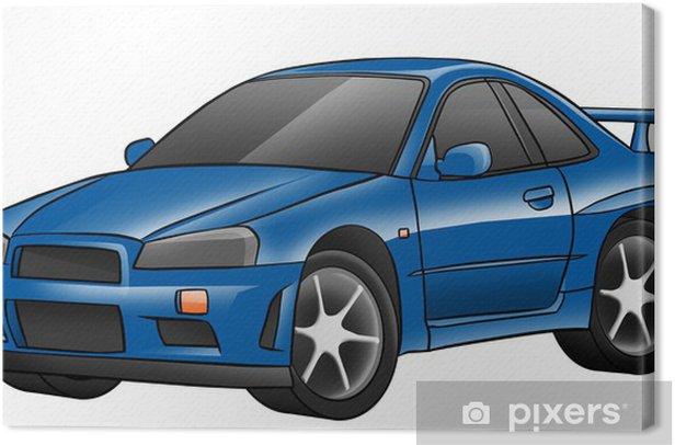 Obraz na płótnie Niebieski błyszczący samochodzik - Sztuka i twórczość