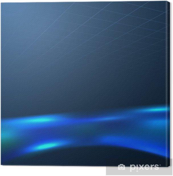 Obraz na płótnie Niebieski płyn szum na ciemnym tle - Tła