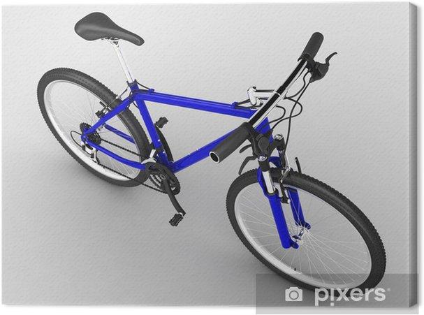 Obraz na płótnie Niebieski rower - Transport drogowy