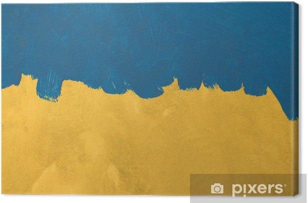 Obraz na płótnie Niebieski tekstury malowane pędzlem na ścianie cementu tle - Sztuka i twórczość