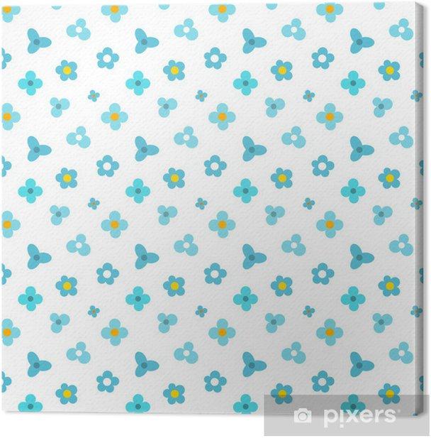 Obraz na płótnie Niebieskie kwiaty wzór - Tła