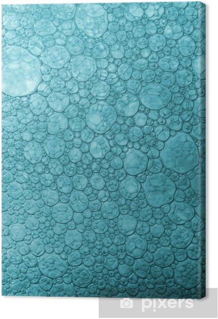 Obraz na płótnie Niebieskie płaskie pęcherzyki makro - Tekstury
