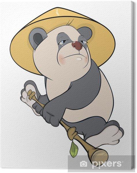 Obraz na płótnie Niedźwiedź. Panda. Rysunek - Naklejki na ścianę