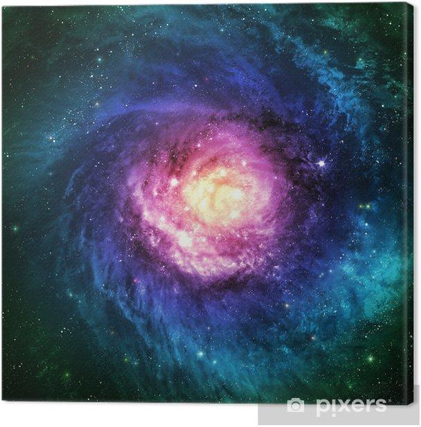 Obraz na płótnie Niewiarygodnie piękna galaktyka spiralna gdzieś w przestrzeni kosmicznej - Wszechświat